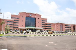 The newly constructed Prof. Chike Edozien Secrtariat complex on Maryam Babangida Way Asaba set to be unveiled in December.